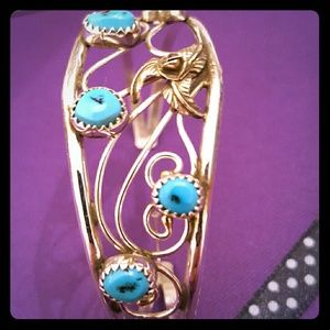 Sterling Silver/Turquoise Cuff Bracelet